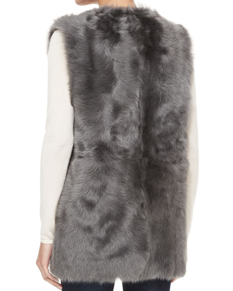 Reversible Shearling Fur Vest