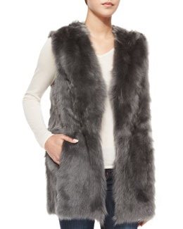 Reversible Shearling Fur Vest