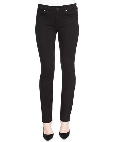 Kimmie Straight-Leg Jeans, Black