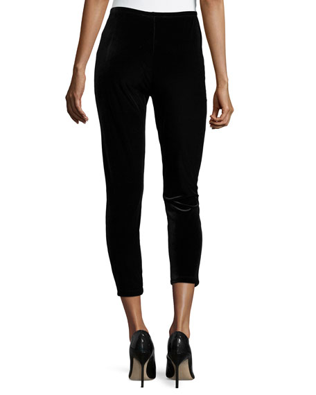 Velour Ankle Leggings, Plus Size