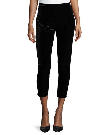 Joan Vass Leopard-Print Velour 3/4-Sleeve Tunic, Plus Size