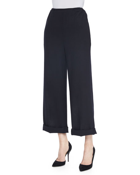 RED Valentino High-Waist Cuffed Pants