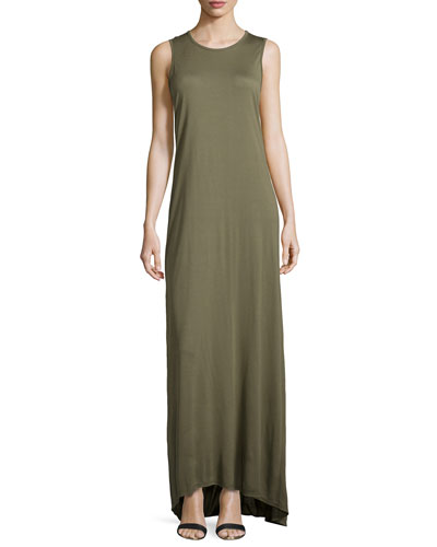 Sleeveless Muscle Gown w/Train, Fatigue