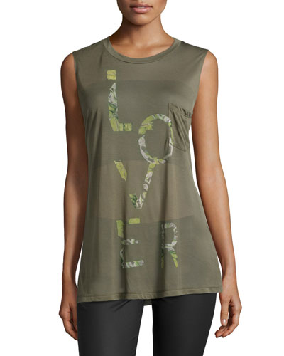 Lover Muscle Tank w/Pocket, Fatigue