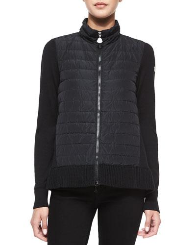 Sweater with Flyaway Back, Black