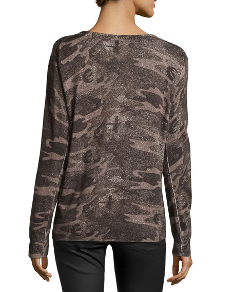 Abstract Camouflage Sweater, Camo Multi