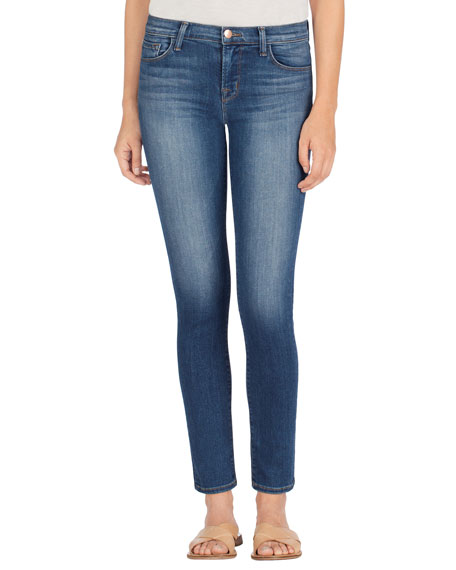 Image 1 of 4: Skinny Mid-Rise Ankle Jeans, Imagine