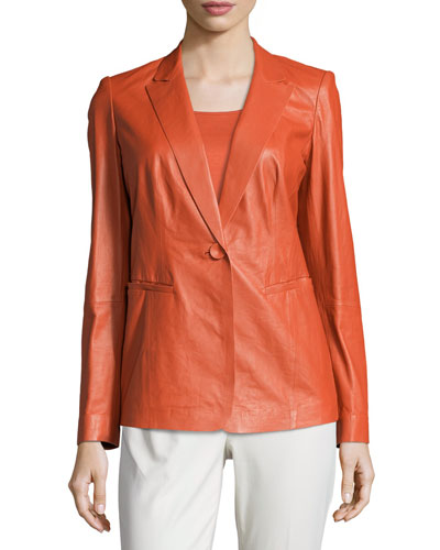 Stelly Leather Jacket with Lace Back, Flare