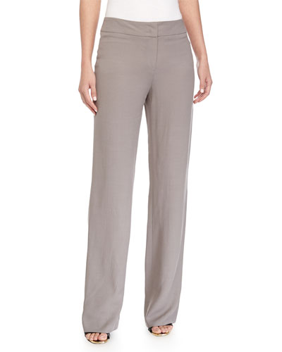 Banded Wide-Leg Pants, Shadow