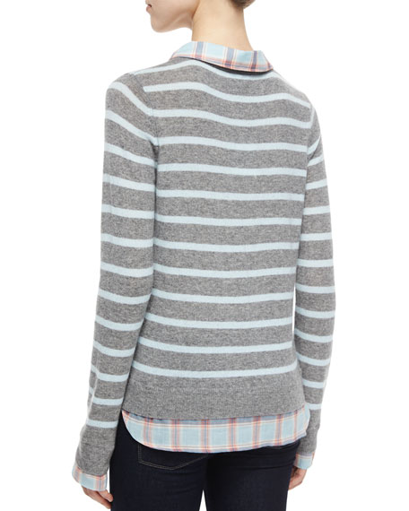 Image 2 of 2: Rika F Cashmere Striped Sweater