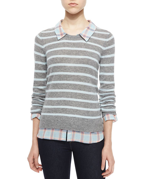 Image 1 of 2: Rika F Cashmere Striped Sweater