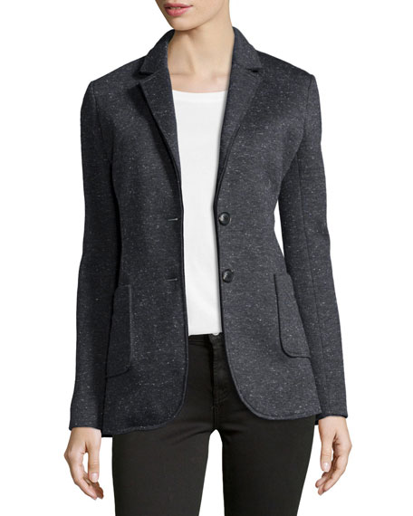 ATMBonded Knit Speckled Blazer