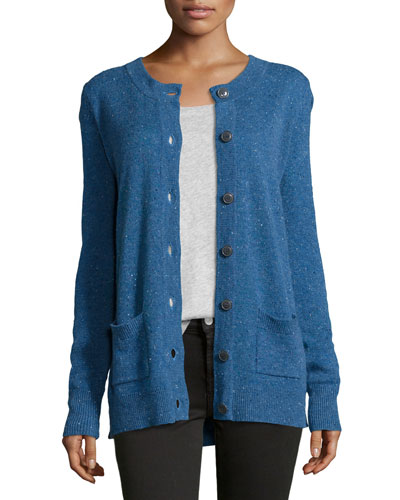 Donegal Speckled Knit Cashmere Cardigan