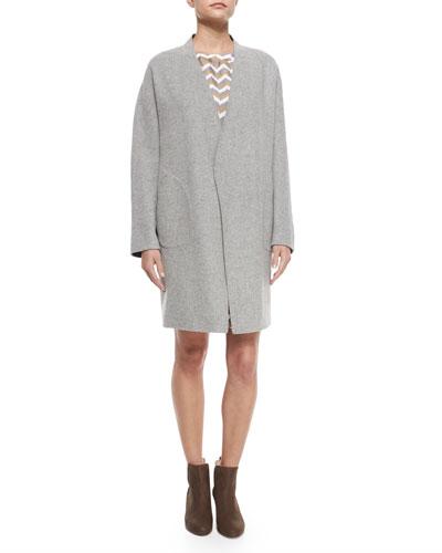 Singer Bemberg® Cupro Coat, Light Gray