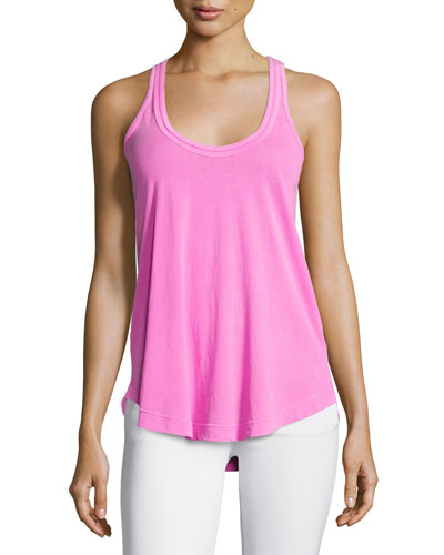 Bright Sleeveless Loose Cotton Tank