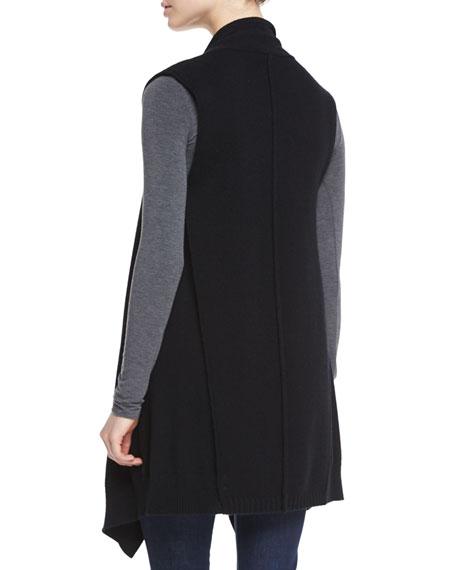 Cashmere Long Draped Vest