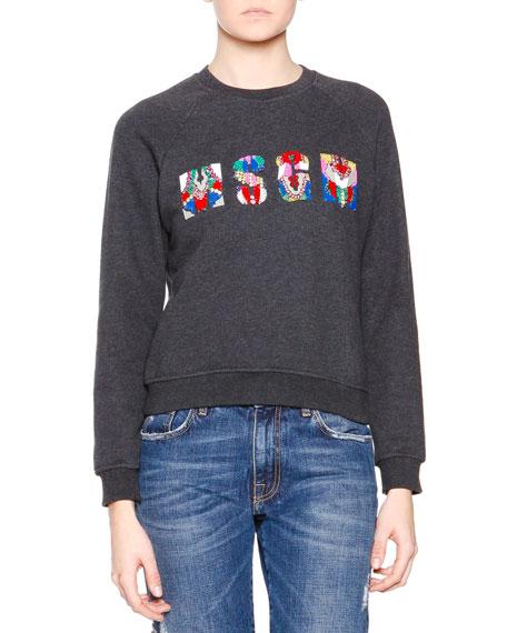 MSGM MSGM Logo-Center Sweater