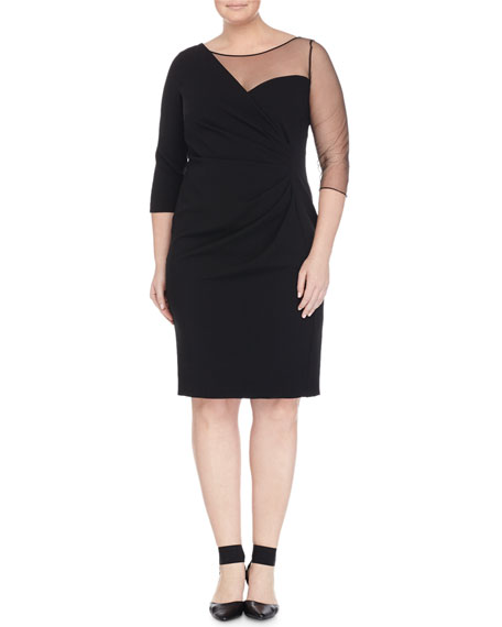 Marina Rinaldi Delicato Sheer-Detail Dress, Plus Size