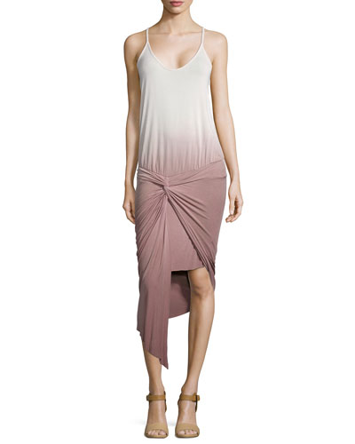 Kulani Twisted Drop-Waist Ombre Dress