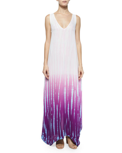 Ali Ombre Rain Maxi Dress, Orchid Bamboo Wash