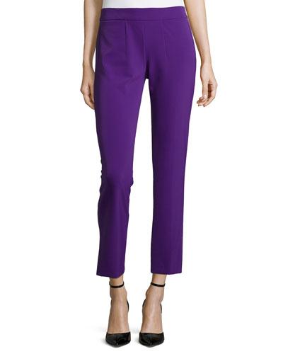 Low-Rise Cropped Pants, Iris