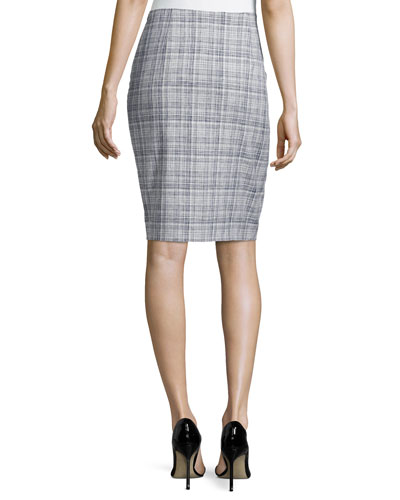 pencil in a pencil skirt We all know that this timeless style is a true wardrobe staple, but in regards to outfitting, one question remains. What to wear with a high-waisted pencil skirt?