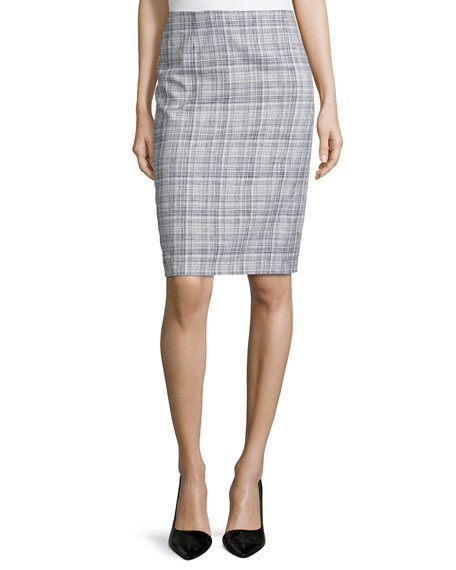 Escada Low-Rise Pencil Skirt, Navy