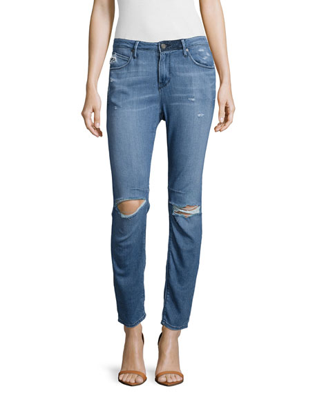 RtA Ryder Distressed Straight-Leg Jeans, Vintage Classic
