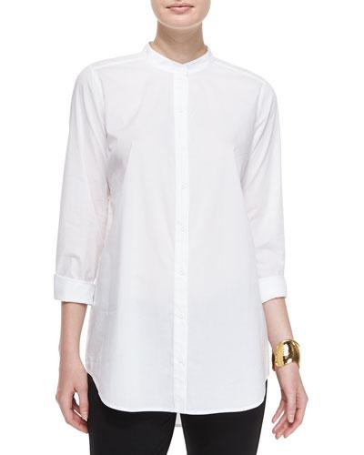 Classic Long-Sleeve Organic Cotton Shirt