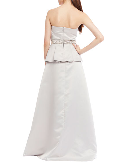 Vienna Strapless Beaded Ball Gown