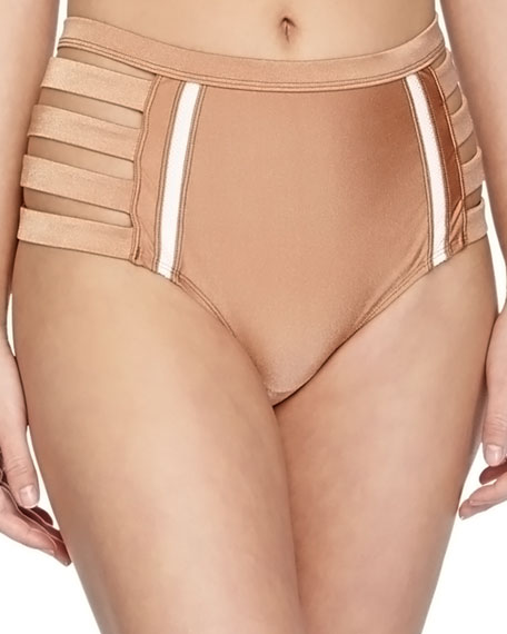 6 Shore Road by Pooja Metallic Strappy High-Waist
