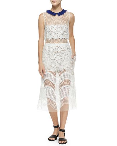 Iris Layered Dress, White
