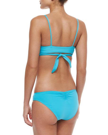 L Space Swimwear by Monica Wise Chloe Wrap-Around Swim Top, Turquoise