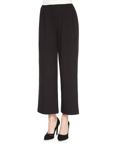 Travel Gabardine Ankle Pants, Black