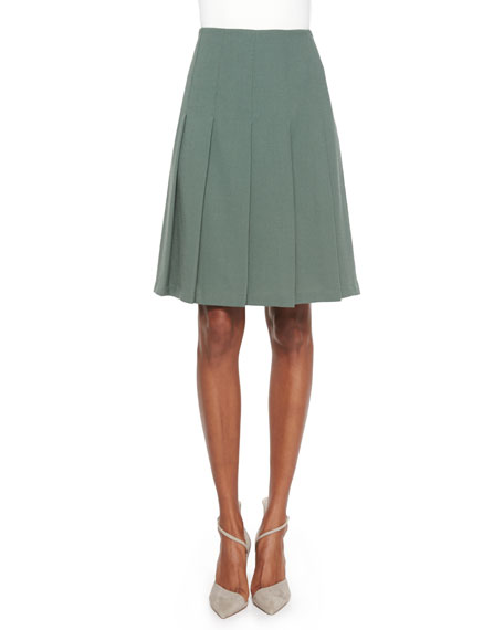Lafayette 148 New York Rayden Pleated Wool Skirt