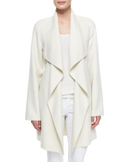 Cashmere Double-Face Wrap Coat