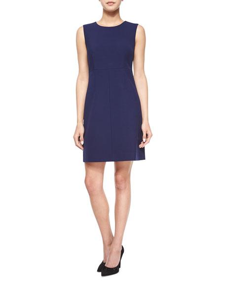 Diane von Furstenberg Sleeveless Carrie A-Line Dress, Midnight