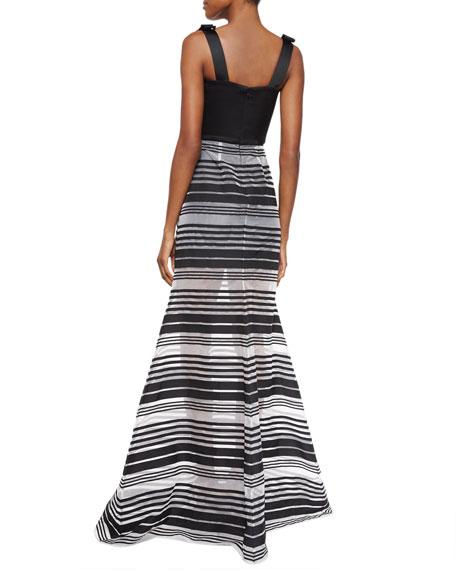 Thelma Striped Sleeveless Maxi Dress