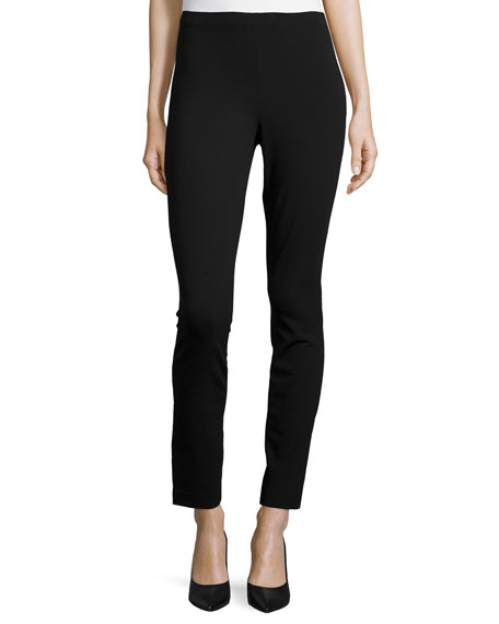 High-Waist Cropped Pants, Black