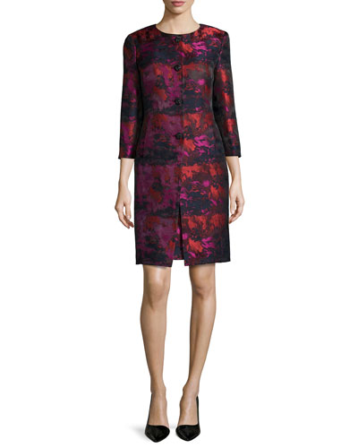 Jacquard Jacket & Sheath Dress Set