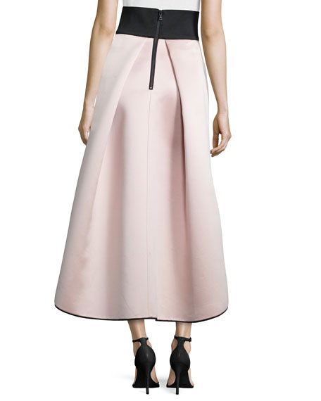 High-Low Satin Ball Skirt, Blush