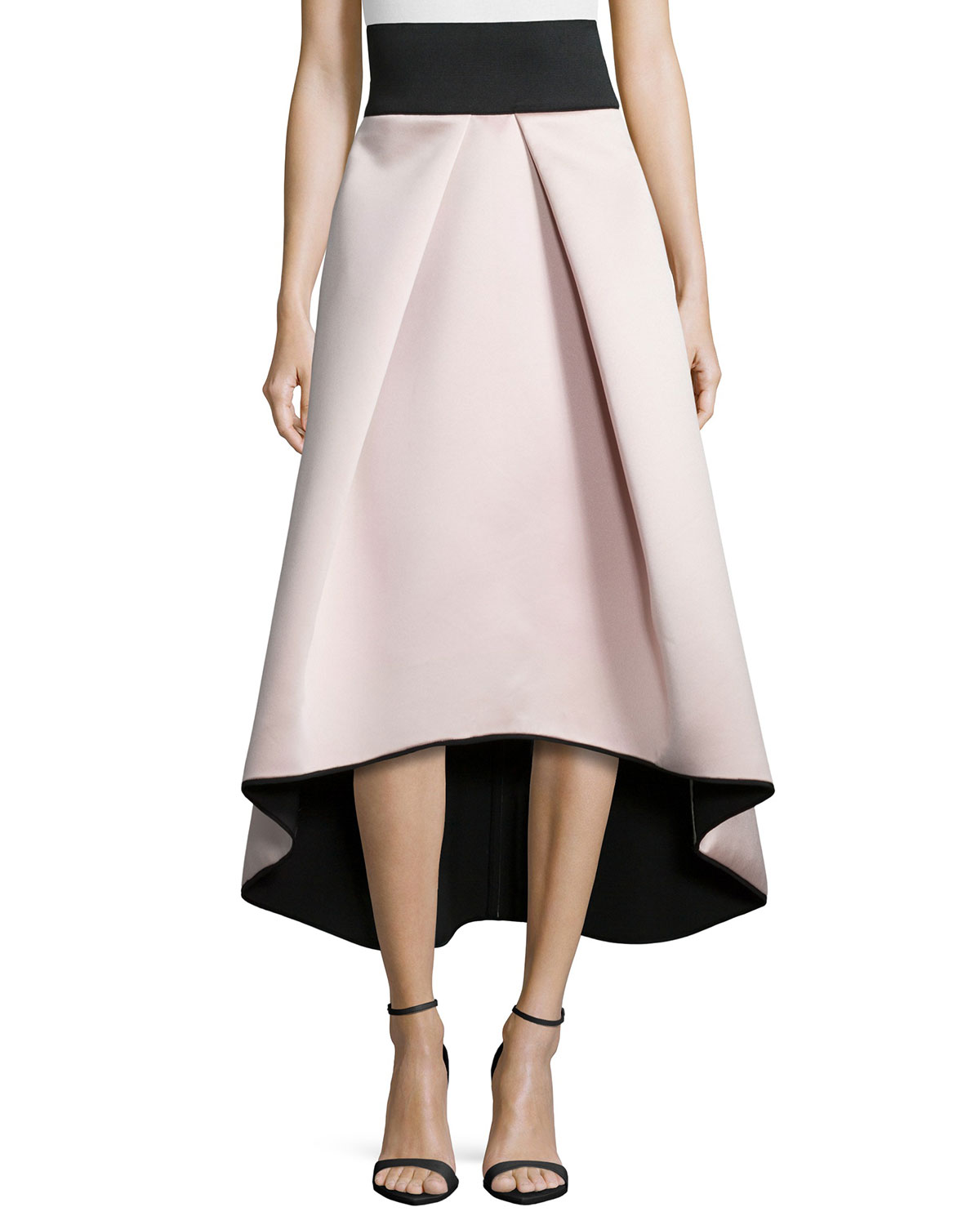 6a59c6801509 Milly High-Low Satin Ball Skirt