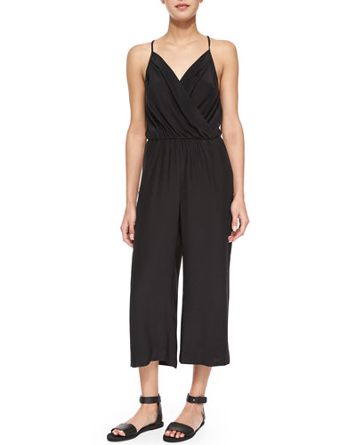 Geneva Cropped Jumpsuit, Black