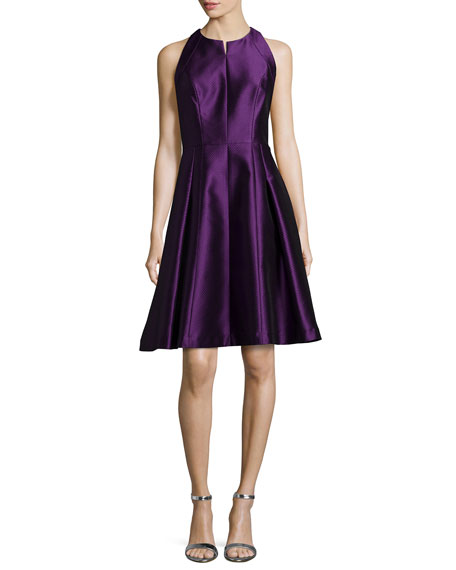 Carmen Marc Valvo Sleeveless Fit-and-Flare Dress