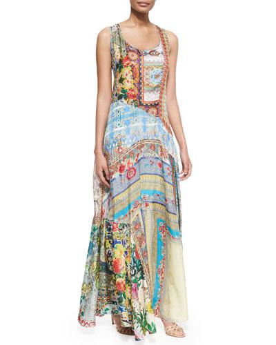 Morelli Mix-Print Maxi Dress, Women's