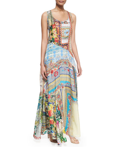 Morelli Mix-Print Maxi Dress