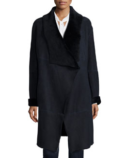 Felice Seamed Lamb Fur Coat