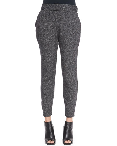 Bias Organic Cotton-Blend Slouchy Pants, Petite