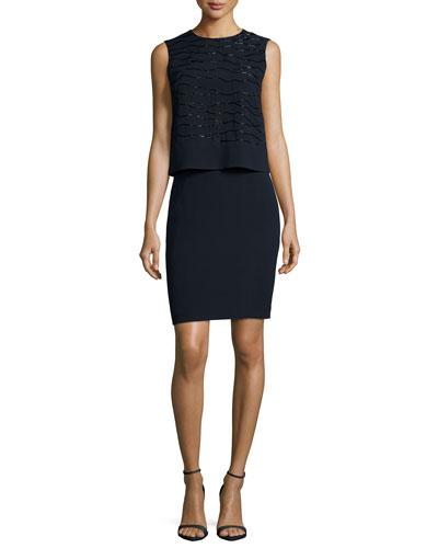 Chantel Popover Dress W/ Embellishments
