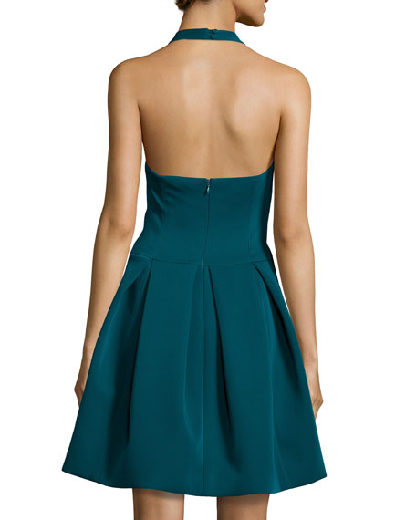 Halter Full-Skirt Cocktail Dress